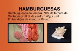 Hamburguesas de ternera